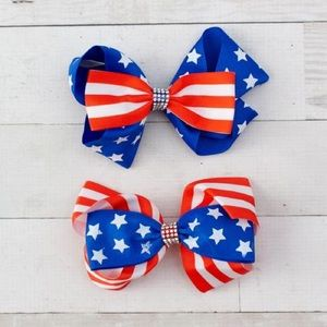 Other - NWT! Star Spangled Boutique Hair Bow - 2 Styles